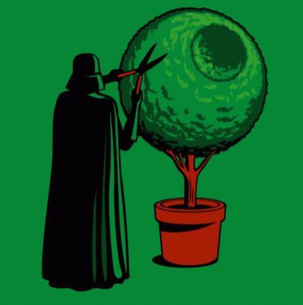 dark vador jardinier