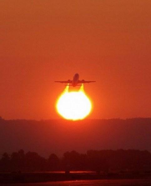 soleil avion