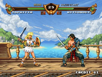 soul calibur 2d old school mitsurugi sophitia