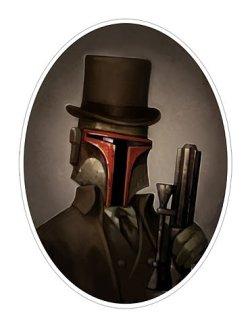 boba fett steampunk victorien portrait