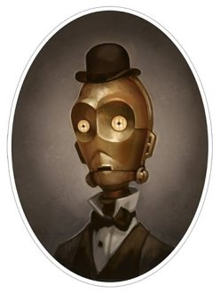 c3po steampunk victorien portrait