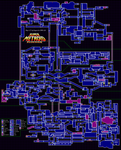 map carte super metroid snes