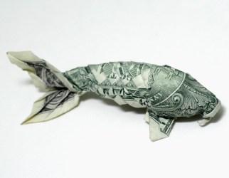 origami un dollar poisson orudorumagi