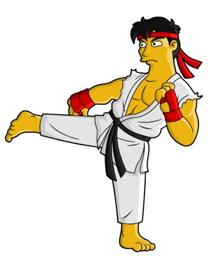 street fighter simpson ryu