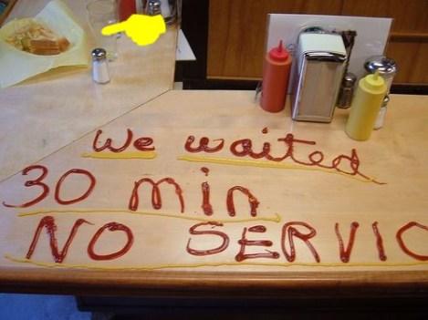 mauvais service