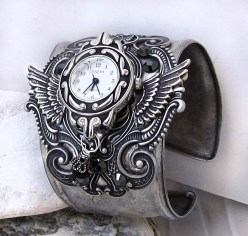Horloge Montre Steampunk Steampunk_Watch_Silver_Black_by_Aranwen