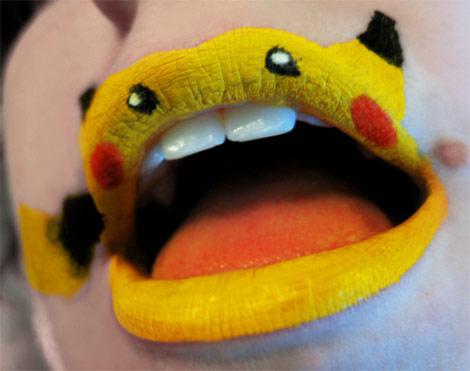 pikachu-lips levres