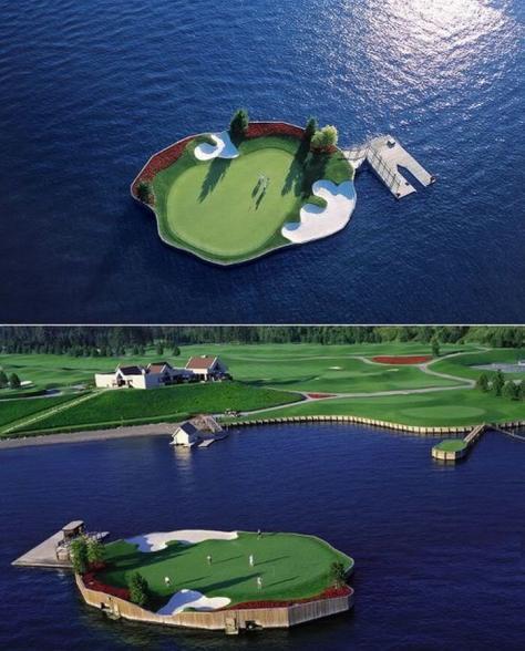 trou golf ile