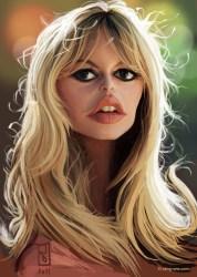 caricature - brigitte bardot