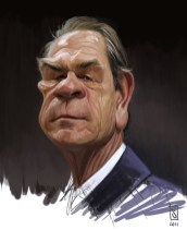caricature - tommy lee jones 2