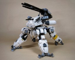 gattling-gun lego quadripode tank