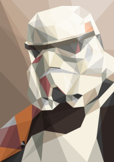 trooper-polygonal-star-wars