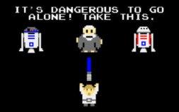 zelda - its dangerous to go alone take this - star wars pixel art