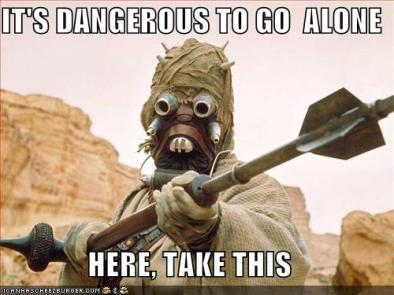 zelda - its dangerous to go alone take this - star wars