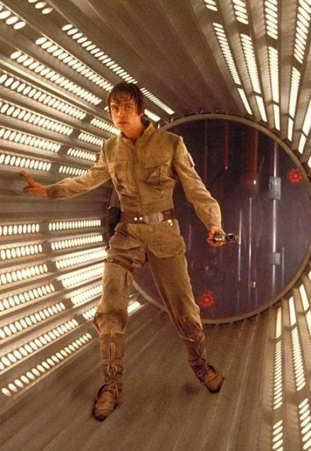 luke skywalker photo tournage