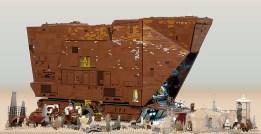 Marshal Banana sandcrawler lego diorama