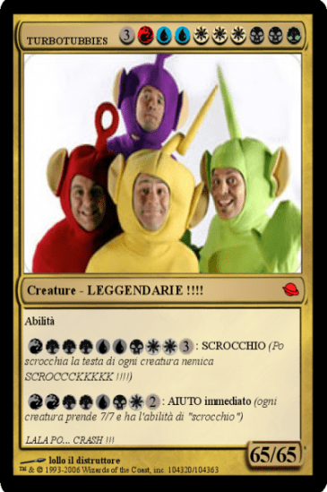 magic card carte - teletubbie