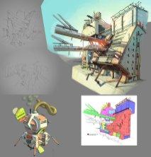 concept dessin ville 2
