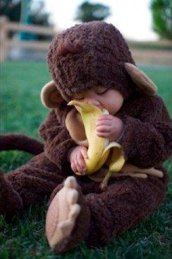 costume bebe singe banane