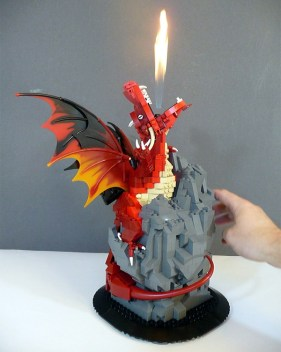 dragon lego flamme