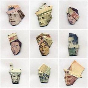 portrait billet origami