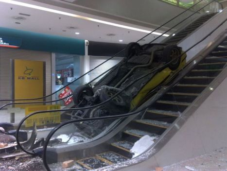 voiture escalator