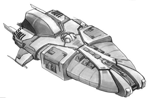 102-vaisseaux design concept dessin