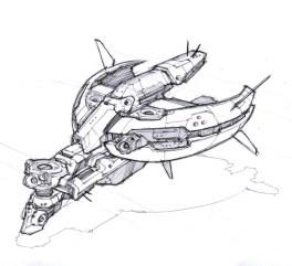 106-vaisseaux design concept dessin