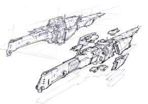108-vaisseaux design concept dessin