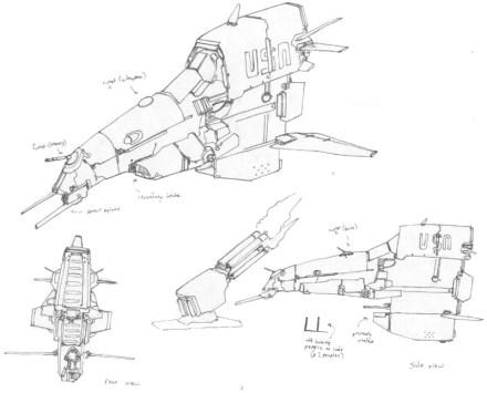 109-vaisseaux design concept dessin