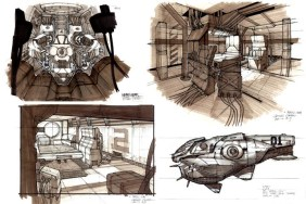 122-vaisseaux design concept dessin