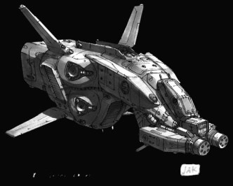 125-vaisseaux design concept dessin