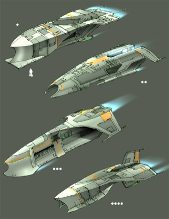 153-vaisseaux design concept dessin