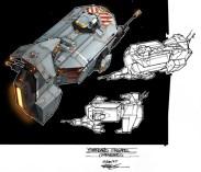 154-vaisseaux design concept dessin