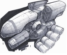 164-vaisseaux design concept dessin