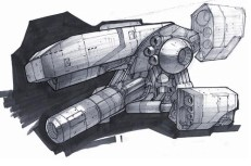 165-vaisseaux design concept dessin