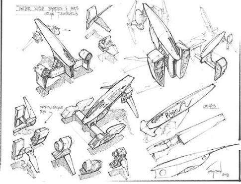 169-vaisseaux design concept dessin