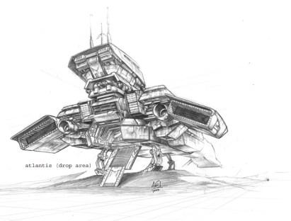 194-vaisseaux design concept dessin