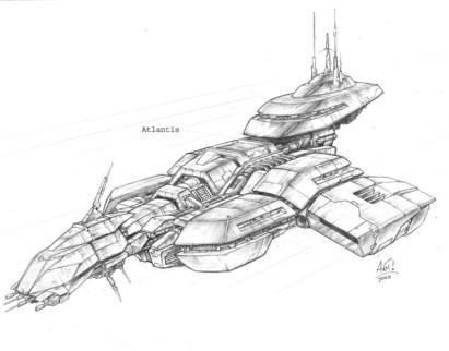 195-vaisseaux design concept dessin