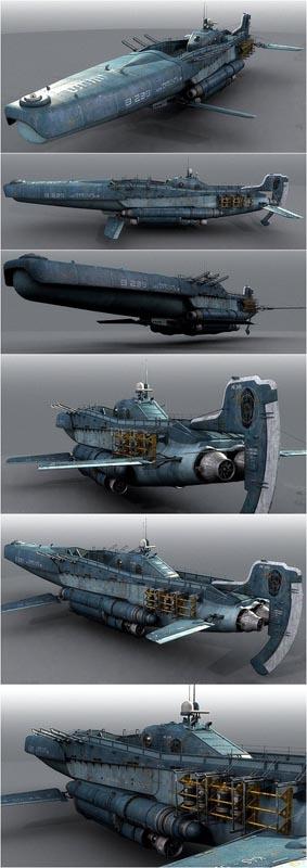 198-vaisseaux design concept dessin