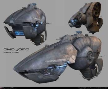 26-vaisseaux design concept dessin