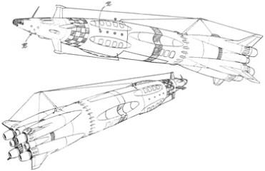 72-vaisseaux design concept dessin