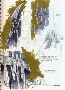 77-vaisseaux design concept dessin