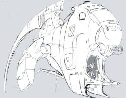 93-vaisseaux design concept dessin