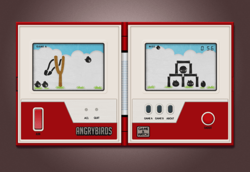 angry birds game and watch