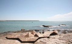 plage bois terrasse