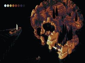 tete de mort ile pixelart