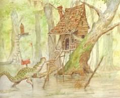 dessin bayou maison alligator