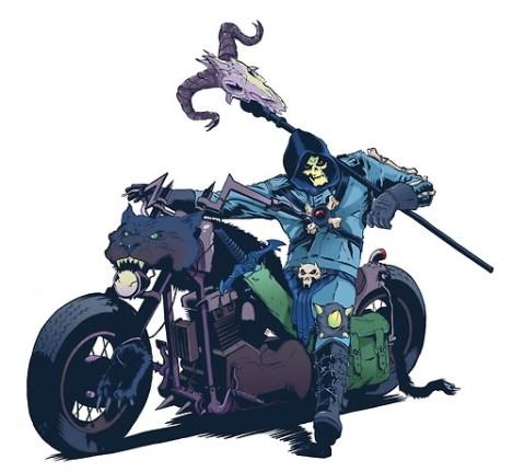 skeletor moto dessin