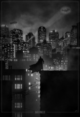 Superhero Noir Posters - Marko Manev - Batman - Arkham Comics 7 rue Broca 75005 Paris